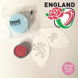 England Facepainting stencils kit