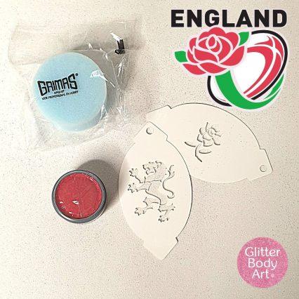 England Facepainting stencils kit