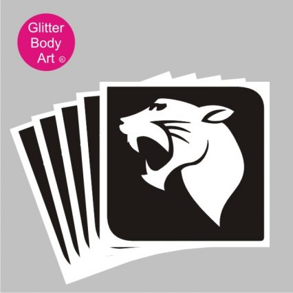 black panther temporary tattoo, tiger stencil,
