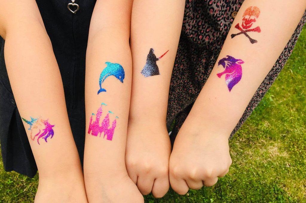 kids temporary tattoos, childrens tattoos, glitter tattoos for kids, kids tattoos uk