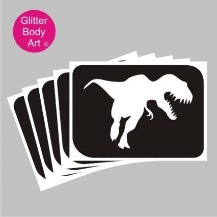 T-rex dinosaur stencil, dinosaur temporary tattoo for boys