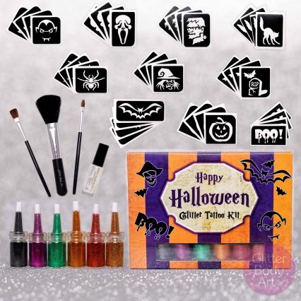 temporary Halloween tattoos kit