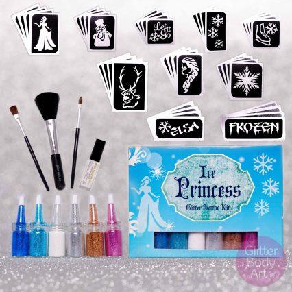 Princess glitter tattoo kit