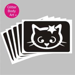 Hello kitty with star temporary tattoo stencil