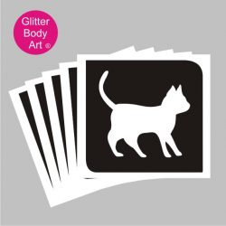 cute kitten temporary tattoo stencil, pussy cat stencil template, cats protection stencil