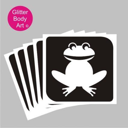 frog temporary tattoo stencil for glitter tattoos