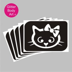 hello kitty with a bow temporary tattoos stencil