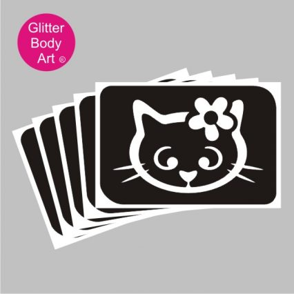 Hello Kitty with flower in her hair temporary tattoo stencils