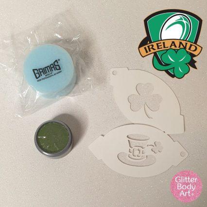 Ireland Facepainting Kit, irish rugby facepaint stencil