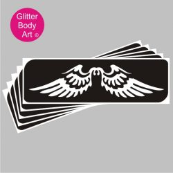 angel wings temporary tattoo stencil for fairy glitter tattoos