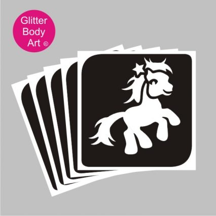 My little Pony with star temporary tattoo stencil