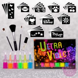 UV glitter tattoo kit