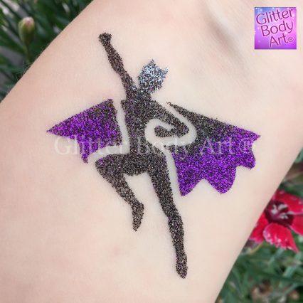 Batwoman temporary tattoo stencil for superhero party glitter tattoos
