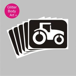 Tractor stencils for boys temporary tattoos