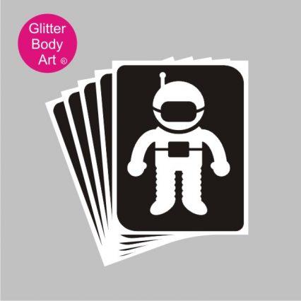 Astronaut spaceman temporary tattoo stencils, space theme tattoos