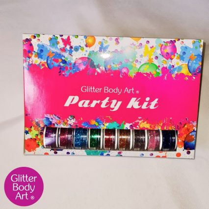 glitter tattoo party kit for children's birthday party ideas