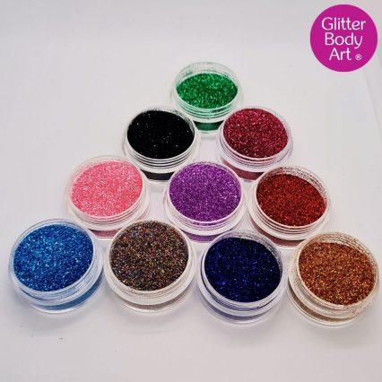 body glitters for children's glitter tattoos