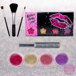 Glitter Lips Kit - fun lipstick type lip glue with glitter