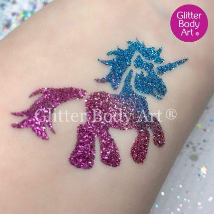 My little pony unicorn glitter tattoo for girls birthday party ideas