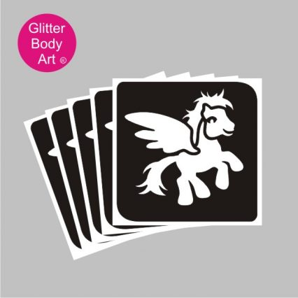My little pony with wings temporary tattoos stencil