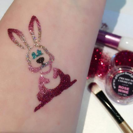 easter bunny temporary tattoo stencil
