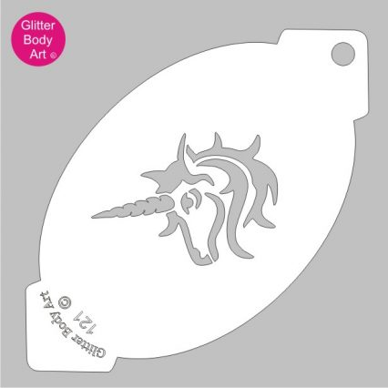 unicorn head facepainting stencil, uncorn template for arts and crafts
