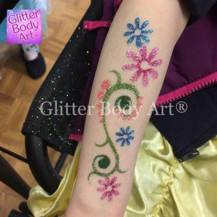 henna floral temporary tattoo stencil for glitter tattoos, Asian weddings