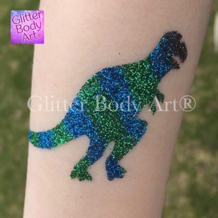 dinosaur temporary tattoo stencil - trex temporary tattoos, boys dinosaur party glitter tattoos