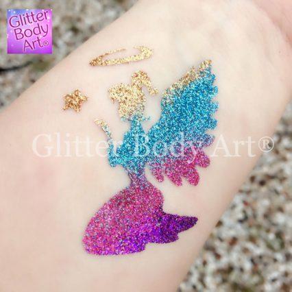 fairy temporary tattoo stencil, fairy party glitter tattoos, Christmas angel temporary tattoo