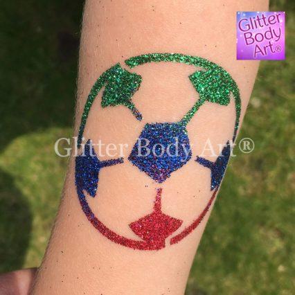 Boys football temporary tattoo stencil for boys party glitter tattoos