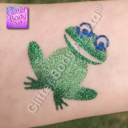 Princess and the Frog glitter tattoo stencil template