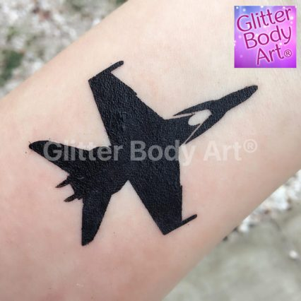 RAF jet temporary tattoo stencil