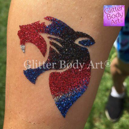 panther temporary tattoo stencil, tiger glitter tattoo