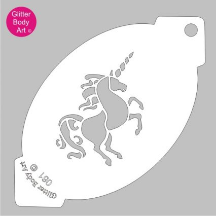 unicorn facepaint stencil, magical unicorn for facepainting