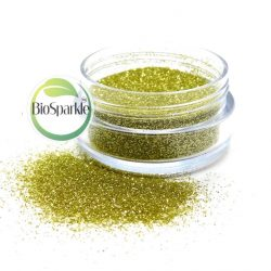 gold bioglitter jar of loose glitter