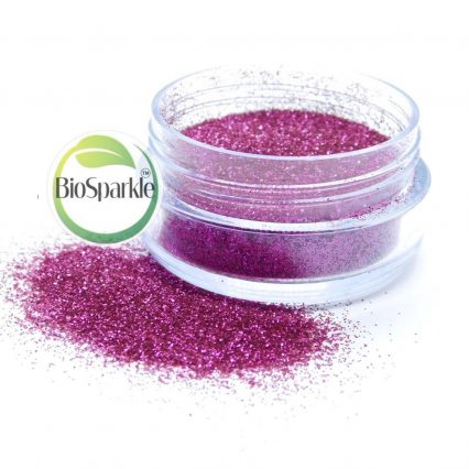 pink rose biodegradable loose glitter for eco makeup