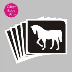 pony temporary tattoo stencil, horse stencils