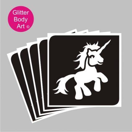 my little pony unicorn temporary tattoo stencil