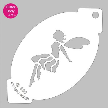 fairy face painting stencil template