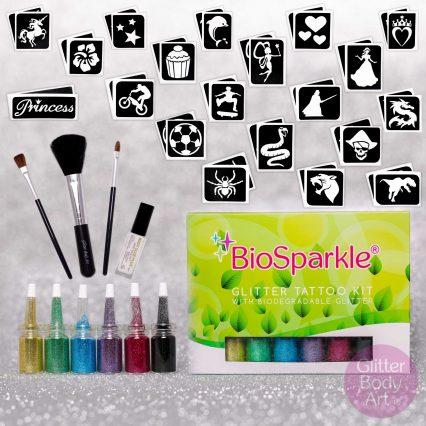 bioglitter kit, bio-glitter kit, bio glitter tattoo kit, bioglitter, bio-glitter, bio glitter, cosmetic bio-glitter