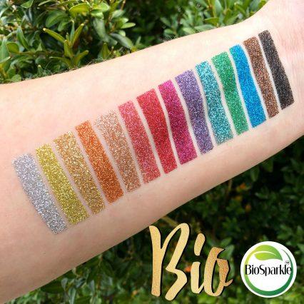bioglitter glitter collection of 14 bioglitter colours biodegradable eco glitter