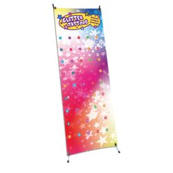 advertising banner, banner and stand, glitter tattoo banner, birthday party banner, advertising banner, glitter tattoo poster, tattoo display,