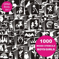 1000 temporary tattoo stencils kids, boys and girls temporary tattoos