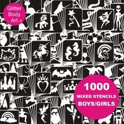 1000 temporary tattoo stencils kids, boys and girls temporary tattoos