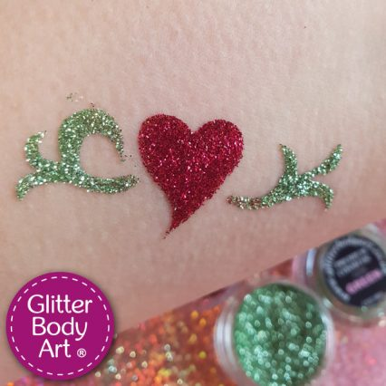 heart vine temporary tattoo stencil for kids parties