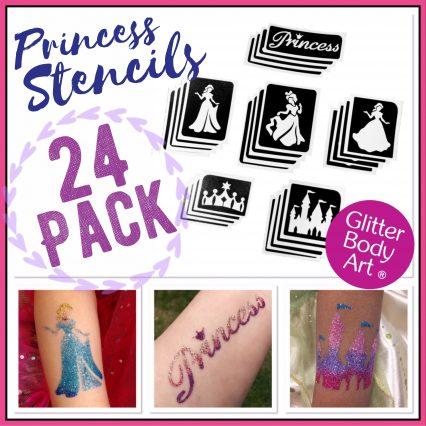 Princess temporary tattoo stencils