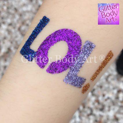 LOL dolls temporary tattoo stencil, girls birthday party