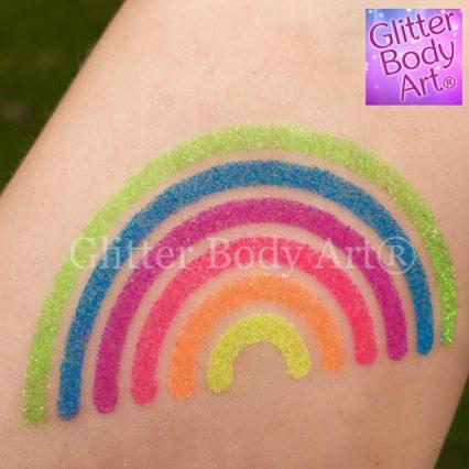 NHS Rainbow, Gay Pride rainbow temporary tattoo stencil
