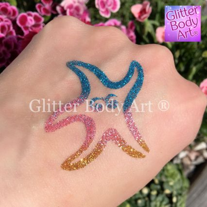 starfish temporary tattoo, under the sea party tattoos