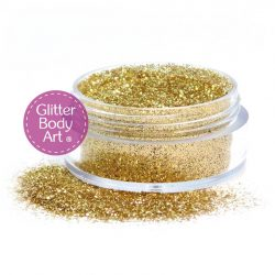 antique gold cosmetic glitter for makeup and glitter tattoo applications